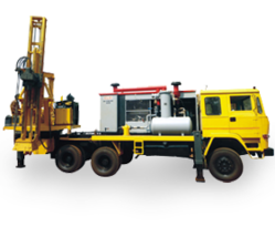 Tractor Mounted Pole Hole Drilling Machine with Truck
