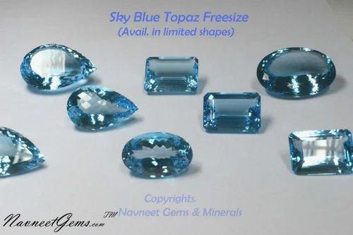 Loose Sky Blue Topaz Gemstones