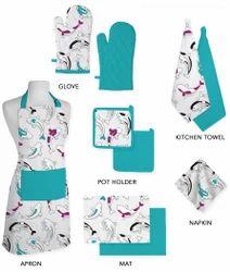 Fish Pattern Design Kitchen Linen Set