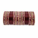 Maroon Color Brass Bangle