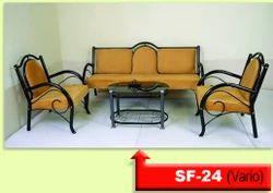 Irony Polished SF24 Metal Sofa Set