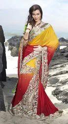 Silk Printed Unique Trendy Saree, Dry clean