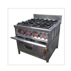 Cookman Four Burner Range With Oven