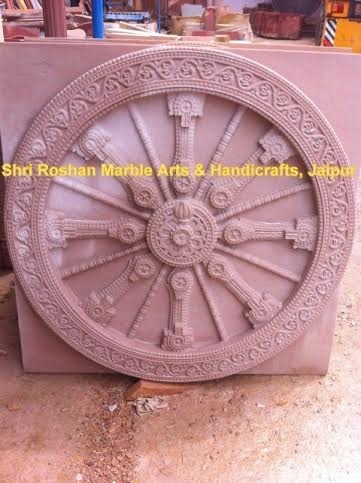 Red Sandstone Carving