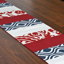 Classic Printed Cotton Table Runner