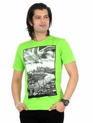 Men's Cotton Round Neck Printed T-Shirt