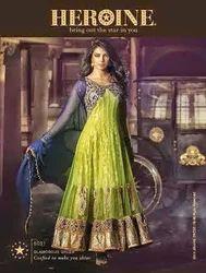 Chiffon Unstitched Anarkali Suits