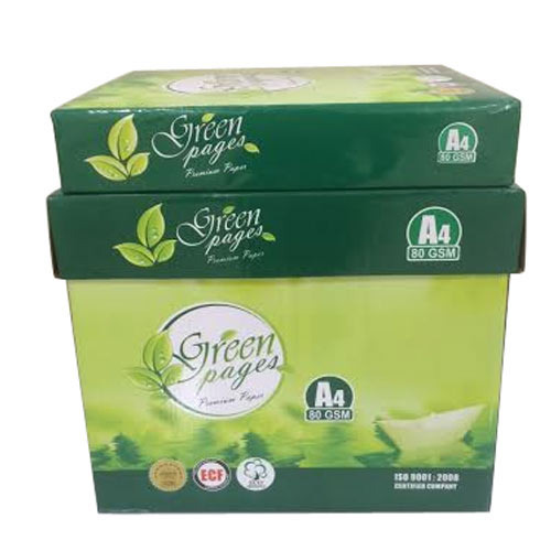 Green Pages A4 Copy Paper, Packing Size: 500 Sheets Per Pack