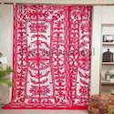 Printed Door Applique Curtain