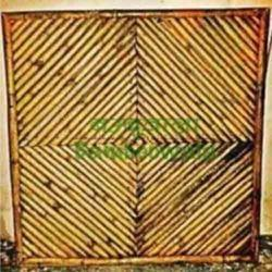 Diagonal Split Bamboo Fence