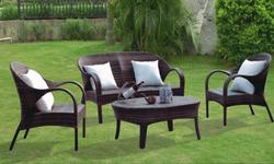 Garden Wicker Sofa Set