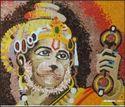 Glass Mosaic Hanuman Mural, Size: 3 X 3feet