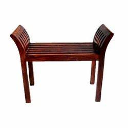 Brown Geeken Backless Wooden Chair