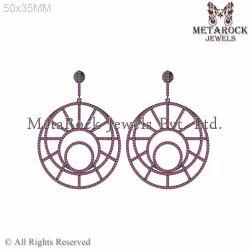 925 Sterling Silver Gemstone Earring