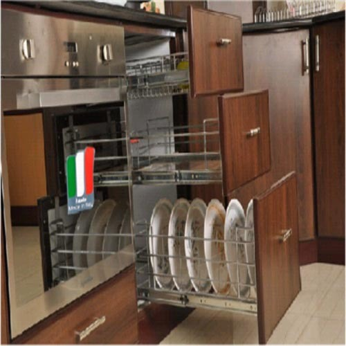 Aluminium Modular Kitchen At Rs 1100 Square Feet: Wooden Color Kitchen Pantry Cabinet, Rs 500 /square Feet