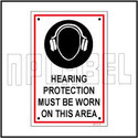 590738 Hearing Protection Sign Label