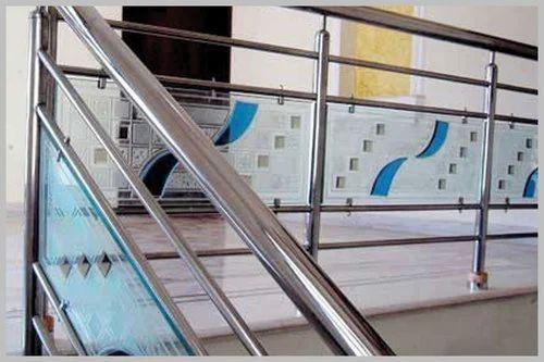 Designer Glass Railing Glass Staircase Railing कच क