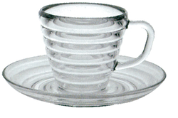 Poly Carbonate Tea Cup With Liner