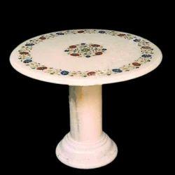Marble Inlay Table Top, Marble U0026 Stone Artifacts | Pandey Moorti Bhandar In  Chandpole Bazar, Jaipur | ID: 4190069330