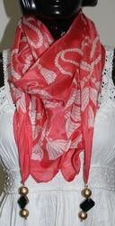 Designer Printed Stole with Jewelry