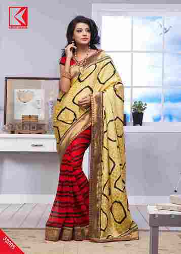 Fancy Saree with Boders