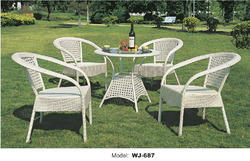 Wicker Outdoor Dining Set
