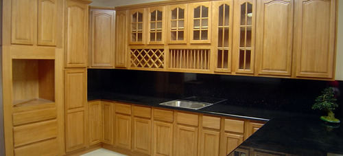 Rubber Wood Modular Kitchens