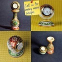 Marble Kundanwork Ethnic Desk Watch - Various Designs