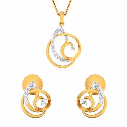 Ladies diamond pendant set at rs 41420 sets union square ladies diamond pendant set aloadofball Images
