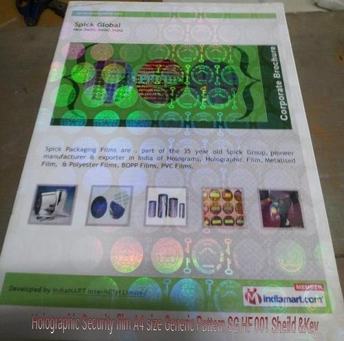 15 Sheets certificates Documents Spick piece tm Global A4 Transparent Films For Holographic Rs 6999113955 Size Id