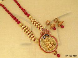 Laxmi Temple Pendant Set