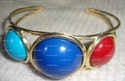 Brass Cuff with Resin Stones