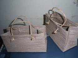 conifer Multicolor Ribbed Kraft Paper Bags For Promotions, 2, Packaging Type: Custom