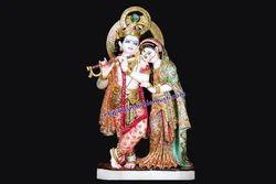 Radha Krishna Mable Statue