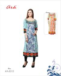 Multi Colour Printed Cotton Kurti by Ark