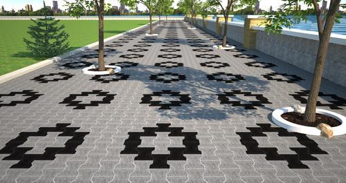 Interlocking Paver Block, I-shape