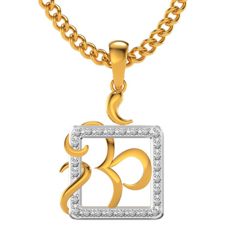 Om square real diamond pendants at rs 12790 piece ladies diamond om square real diamond pendants mozeypictures Image collections