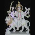 Marble  Durga Sculpture