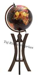 Nautical Colored Globe With Stand