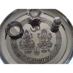 Steel Puja Thali
