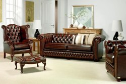 Superior Leather Chesterfield Sofa At Rs 350000 /piece | Leather Sofa | ID:  4817350912