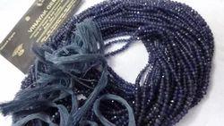 Iolite Cut Roundel Beads