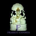 White Marble Ganesh Statue On Sheshnag