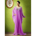 Crape Kaftan Dubai Islamic clothing kaftan party dress
