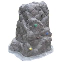 Blue Climbing Boulder Fountain Panel