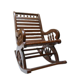 Masa Gaia Antique Brown Wooden Rocking Chair