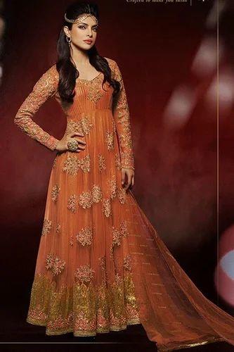 e0fdd14c232 Priyanka Chopra Suits - Graceful Orange Style Designer Salwar Kameez ...