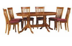 Oval Dining Table With Wooden Top 6seater