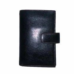 Black Leather Plain Ladies Wallet