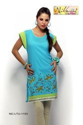 Printed Blue Tunic Top Ladies Kurti